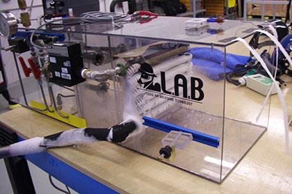 Cryogenic Rescue Alternative Supply System (mine rescue chamber) Air Handler Box under test.