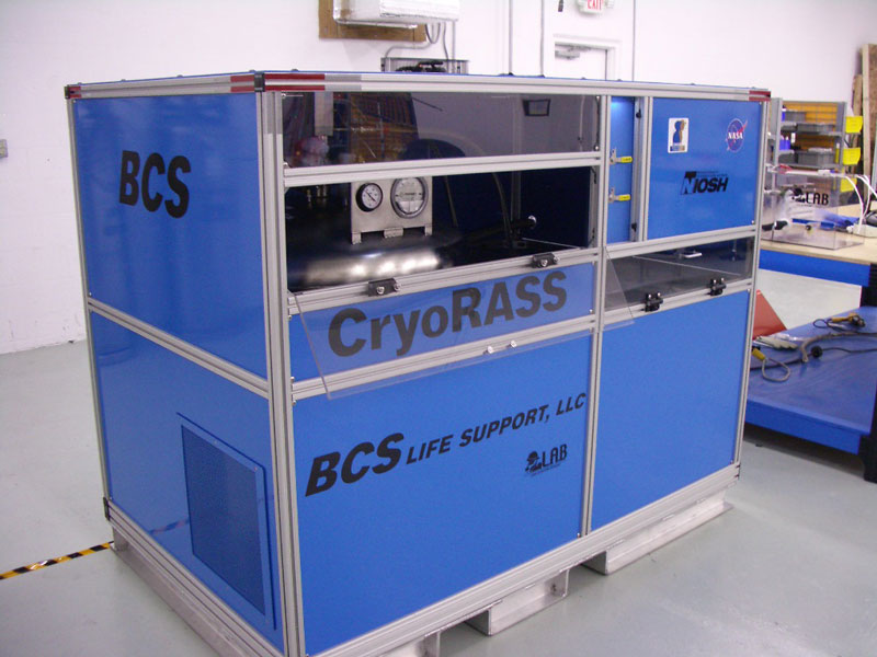 Cryogenic Refuge Alternative Supply System - Provides 96 hrs of breathing air to a mine refuge chamber - Provides active cooling - Dehumidifies chamber air - Employs zero loss liquid air storage technolog