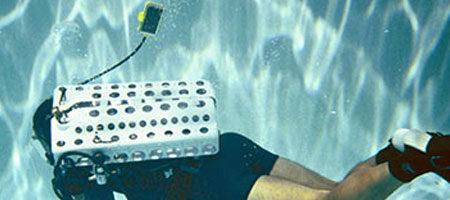 Supercritical underwater breathing apparatus under test.